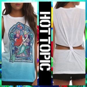 🍀 Hot Topic Disney Ariel Stained Glass Tank Top